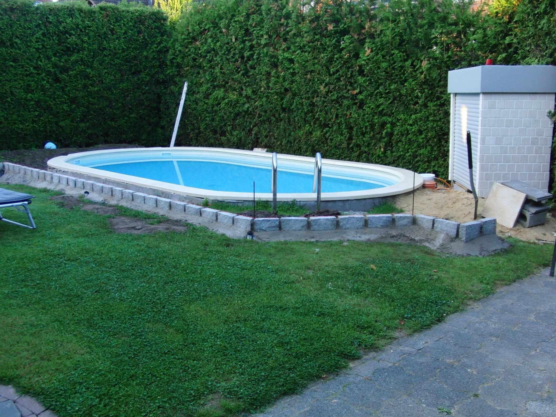 Pool zum einlassen das kostet ein swimming pool unterbau for Poolleiter bauhaus
